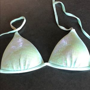 Other - Aqua sequin bikini top